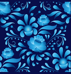 White-and-blue elegance seamless pattern in vector