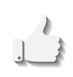 White hand with thumb up gesture of like agree vector
