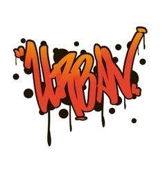 Urban style street graffiti art vector