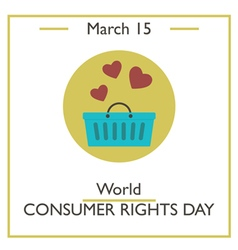 Consumer Rights Day vector image