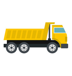 Dumper truck icon isolated vector