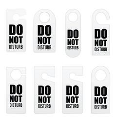 do not disturb door tag design in colorful vector image
