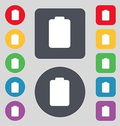 Battery empty low electricity icon sign a set of vector