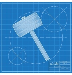 Hammer icon epsblueprint 0 vector