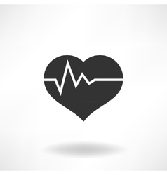 Heart health icon vector