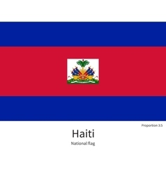 National flag of haiti with correct proportions vector