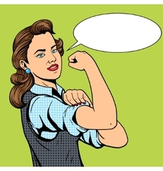 Business woman hand gesture pop art style vector