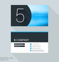 Creative business card template number five flat vector