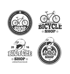 Retro bicycle shop bike sport labels vector