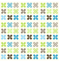Retro flowers pattern vector