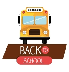 back to school bus yellow design isolated vector image