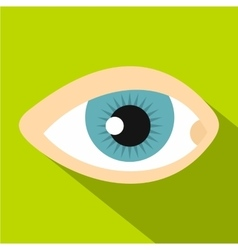 Blue human eye icon flat style vector