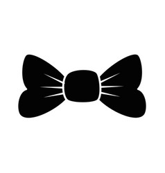 bow ribbon isolated icon vector image