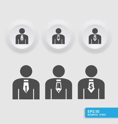 businessmanbusiness man icon set vector image vector image
