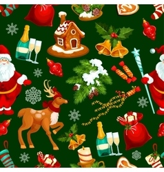 Christmas and new year holidays seamless pattern vector