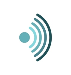 Distribution of wi-fi icon flat style vector
