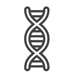 Dna line icon science and biology vector