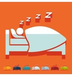 Flat design sleep vector