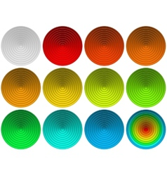Glass round buttons set vector image vector image