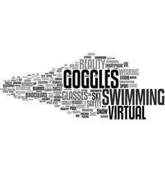 Goggles word cloud concept vector
