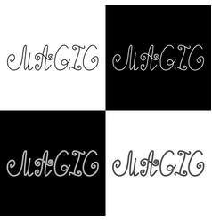 Hand written retro lettering magic vector