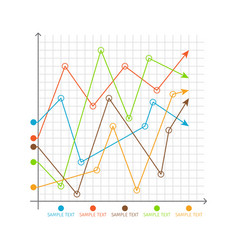 Infographic chart changing graphs system of axes vector