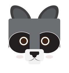 Isolated raccoon face vector