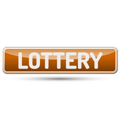 lottery - abstract beautiful button with text vector image