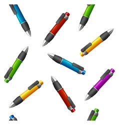 Pattern of different pens vector image