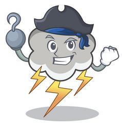 Pirate thunder cloud character cartoon vector