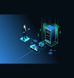 Server storage site image vector