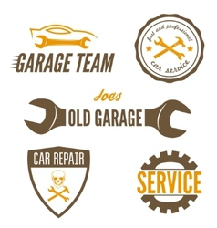 Set of logo badge emblem and logotype element vector image