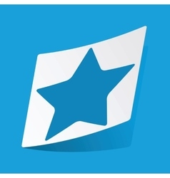 Star sticker vector image vector image