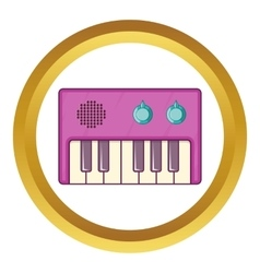 Synth icon vector