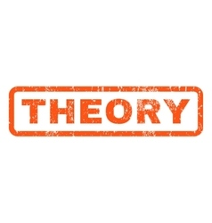 Theory rubber stamp vector