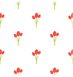 Tulips pattern seamless vector