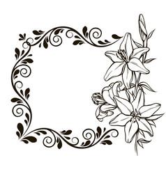 vintage floral decorative background vector image