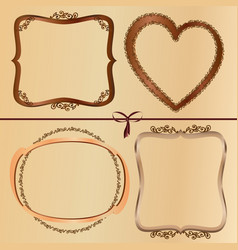 Vintage wood frames vector