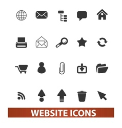 website icons set vector image vector image