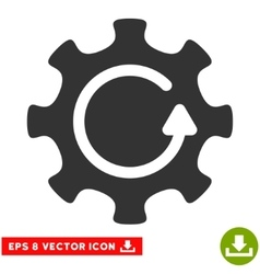 Cog rotation direction eps icon vector