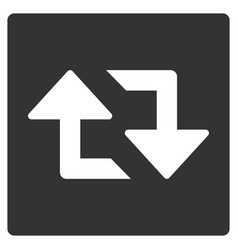 Refresh arrows flat icon vector