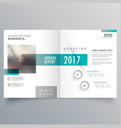 Booklet cover layout template presentation for vector
