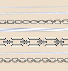Rope knots marine cord cable seamless pattern vector