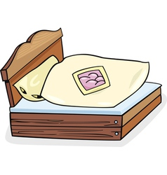 Bed furniture cartoon vector