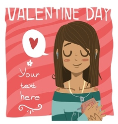 Happy valentine day greeting card vector