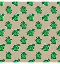Background cactus pattern vector