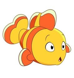 Cute cartoon clownfish vector