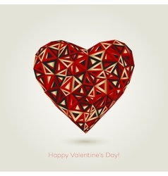 Happy valentines day love greeting card with vector