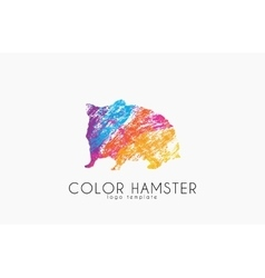 Hamster Color hamster logo Creative logo design vector image