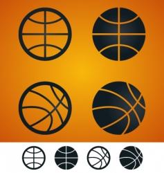 basketball sign vector image vector image